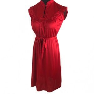 Vintage ox blood disco dress